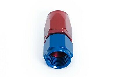 AN10 JIC10 Alu-Fitting Dash 10 90° Blau-Rot 7//8-14UNF