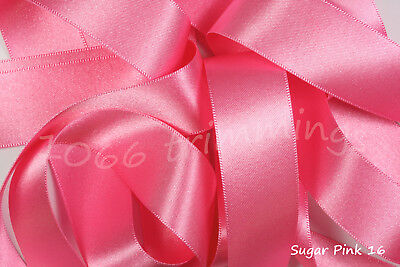 Double Satin Ribbon Berisfords Reds /& Wines Shades Short Lengths or Full Reels