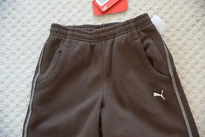 New Puma Shift 552491-01 Unisex Track Bottom Sweat Pants Chocolate Brown 9-10 Yr 4