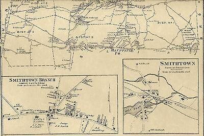 JAMES LONG ISLAND NY COPY ATLAS MAP 1909 KINGS PARK SMITHTOWN NISSEQUOGUE ST