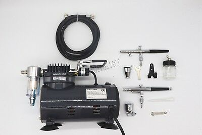 Switzer AS18 Airbrush With Compressor - Double Action Air Brush Spray Kit Paint 3
