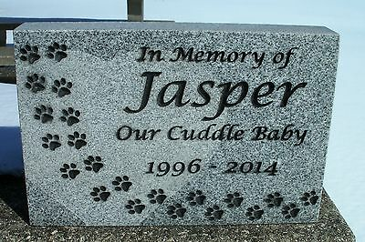 personalized pet memorial head stone grave marker 2 granite