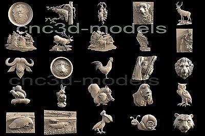 3D STL Models for CNC Router 3D Printer Artcam Vetric aspire...301