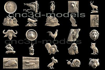 3D STL Models for CNC Router Carving Artcam Aspire Collection Animals 301 2