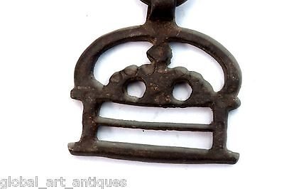 2 Pc Old Rare Iron 1930's Shape Handcrafted Belt Buckles, Rich Patina.G41-103 US 5