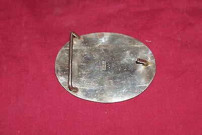 Vintage Texas Abalone Inlay Alpaca Mexico Silver Look Belt Buckle Western Cowboy 2