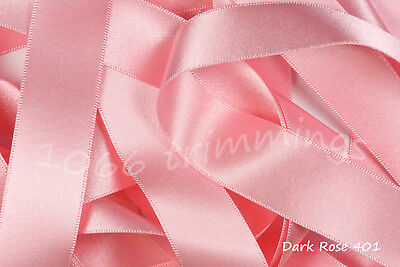 Ribbon Double Satin Berisfords 30 Shades 8 Widths  cut to order & Free P&P