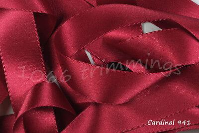 Berisfords  Double Satin Ribbon 30 Shades 3mm 7mm 10mm 15mm 25mm 35mm 50mm 70mm 5