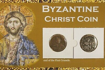 ANCIENT BYZANTINE COIN of JESUS CHRIST LARGE 10th and 11th Century with COA 2