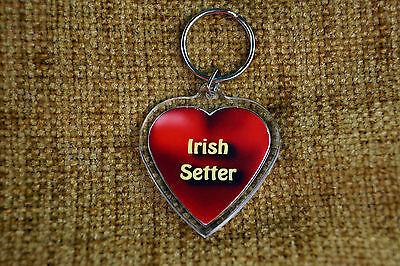 Irish Setter Red Gift Keyring Dog Key Ring heart Birthday Gift Mothers Day Gift