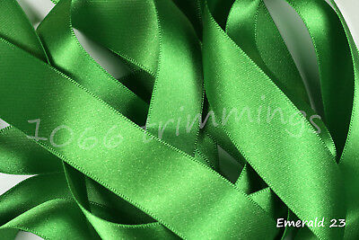 Berisfords  Double Satin Ribbon 30 Shades 8 Widths  cut to order & Free P&P 12