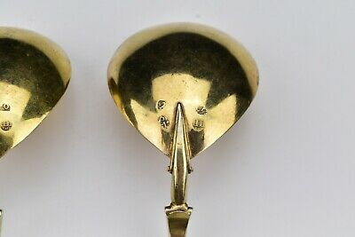 Two Dutch Silver Rat Tail Fig Shaped Spoons With Nude Bust 17th Century 10