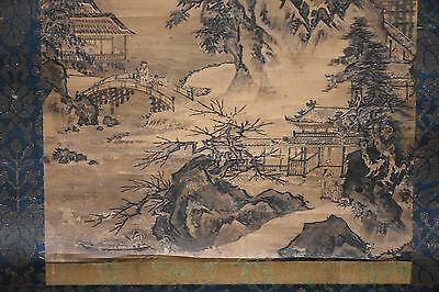 Early Edo Period  Antique Japanese Scroll Landscape Painting