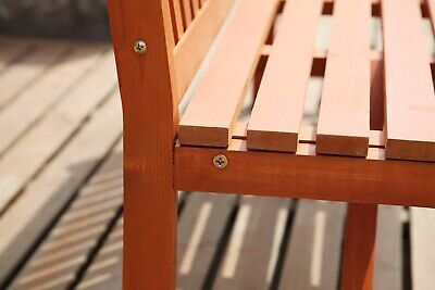 WestWood Garden Bench 3 Seater Chair Wood Patio Deck Patio Park Outdoor WGB02 4