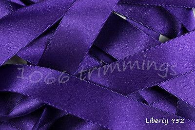 Berisfords  Double Satin Ribbon 30 Shades 8 Widths  cut to order & Free P&P 7
