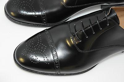 Man-8½Eu-9½Us-Oxford Captoe-Black Calf-Vitello Nero-Leather Sole