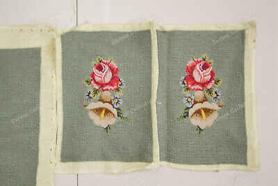 Light Olive Victorian Blooming Roses VTG Reproduction Chair Sofa Cover Sets 8
