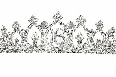 Sweet 16 Birthday Party Princess Rhinestones Crystal Crown Tiara 1159