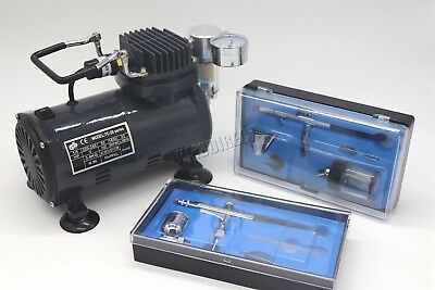 Switzer AS18 Airbrush With Compressor - Double Action Air Brush Spray Kit Paint 4