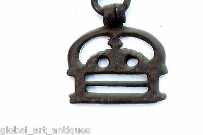 2 Pc Old Rare Iron 1930's Shape Handcrafted Belt Buckles, Rich Patina.G41-103 US 3