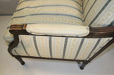 Elegant French Louis XV style Beech Wood Bergere Armchair With Down Cushion 6
