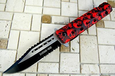 """8"""" Zombie War Tactical Combat Spring Assisted Open Pocket Rescue Knife Survival 2"""