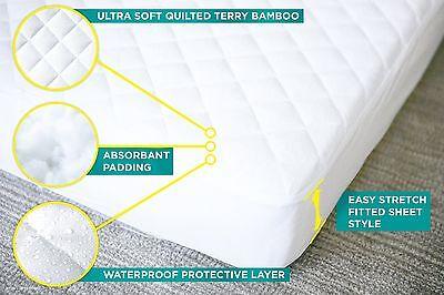 NEW TRU Lite Crib Mattress Protector, white, bamboo, waterproof, hypoallergenic 5