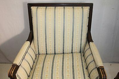 Elegant French Louis XV style Beech Wood Bergere Armchair With Down Cushion 4