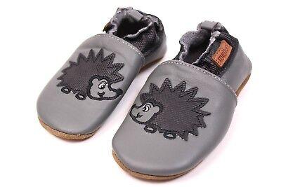Melton Kinder Baby Lederpuschen Hausschuhe Krabbelschuhe Gr 16-25 Soft Leder