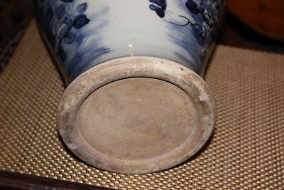 Chinese Blue & White Porcelain Pottery Vase-Birds Flowers Trees-Asian 10