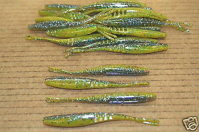 """3 3//4/"""" Jointed Twitch Minnow Super Fluke Style Magic Shad 50 pack Bag Jerkbait"""