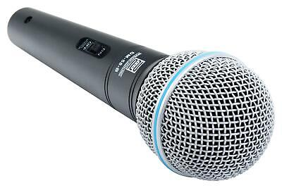 DJ PA Gesangs Live Mikrofon Set Mikrophon Ständer Klinke Mikro Kabel Mic Klemme 5