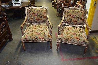 Pair of 20th C. Upholstered Armchairs #5602 2