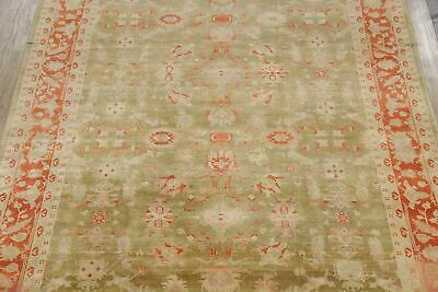 Antique Look Oushak Egyptian Oriental Area Rug Green/Rust Wool Hand-Made 11x14 3