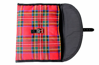 I Pad Carry Case Cover In Royal Stewart Padded Buckle Scottish Made Sale 2