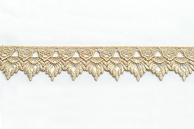 "Lily 8.5/"" x 2/"" White Guipure Venice Lace Collar Bodice Applique Patch by Piece"