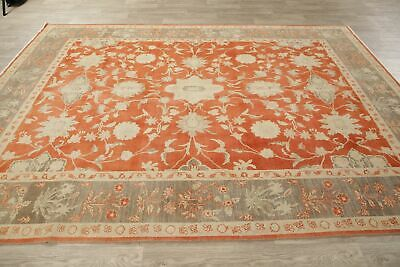 Floral Oushak Egyptian Area Rug Oriental Hand-Knotted Antique Look Carpet 8x11 9