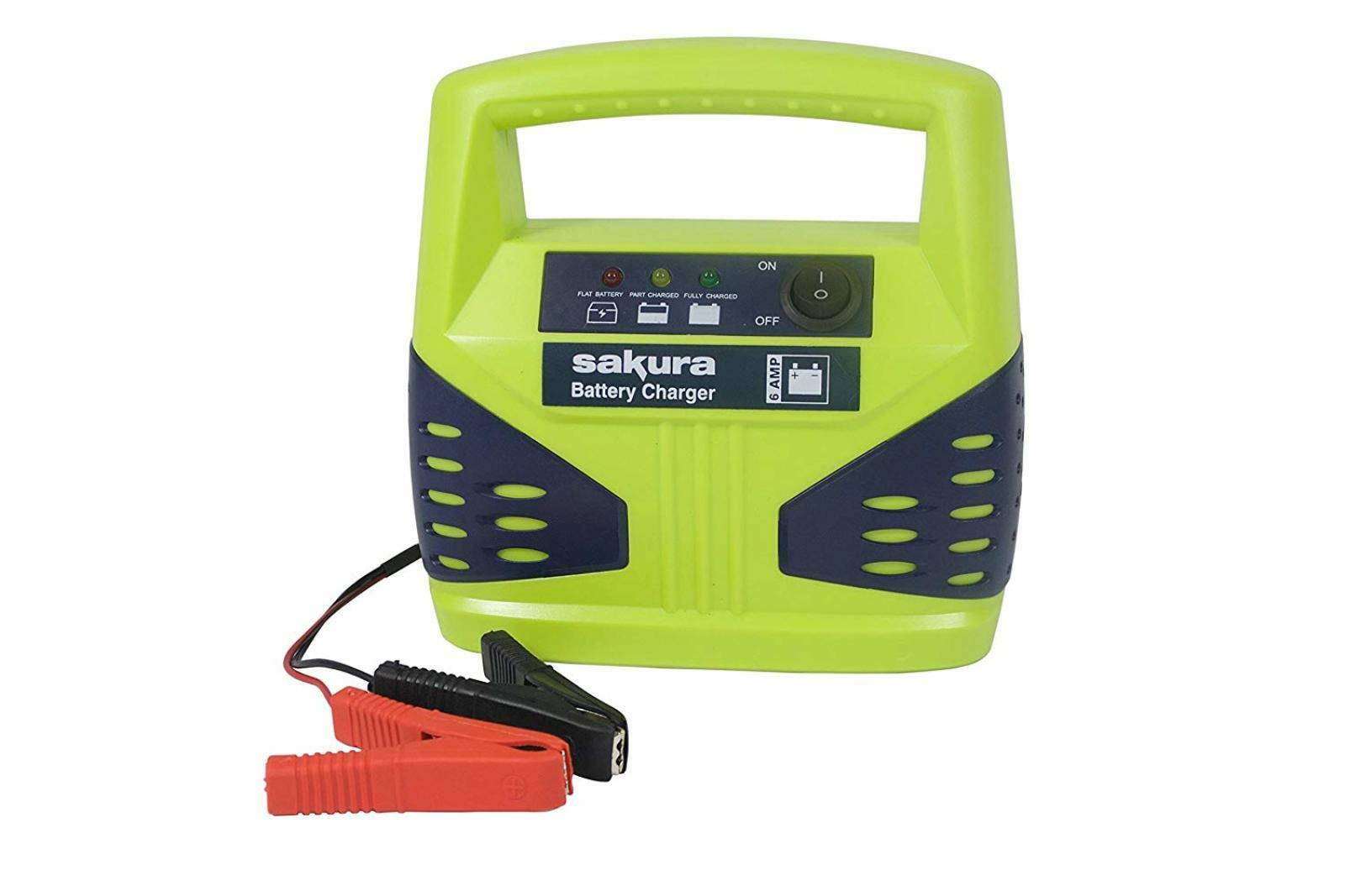 6 Amp Car Battery Booster 12V Compact Portable Charger Jump Starter Power Pack 5