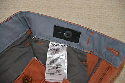 New Quiksilver Boys Straight Pants Trouser Chinos Burnt Sienna EQBNP03038 14 Yrs 5