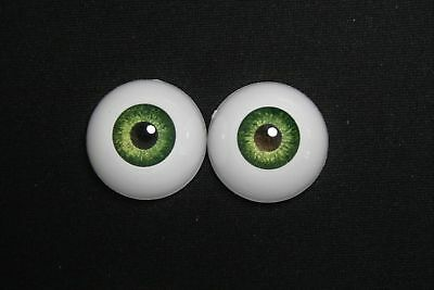 Acrylic bjd eyes 18 mm 1 pair green doll dollfie ooak reborn crafts