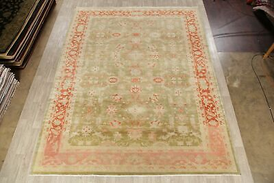 Antique Look Oushak Egyptian Oriental Area Rug Green/Rust Wool Hand-Made 11x14 2