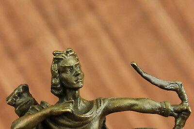 Dios Libro Extremo Escultura Estatua Mythical Figura Regalo Apollo de Bronce T 9