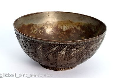 Rare Vintage Old Unique Collectible Islamic calligraphy Brass Water Bowl.G3-42 2