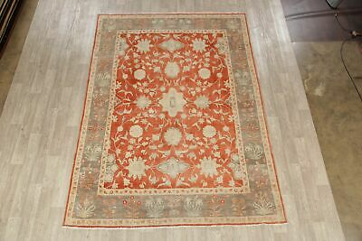 Floral Oushak Egyptian Area Rug Oriental Hand-Knotted Antique Look Carpet 8x11 2