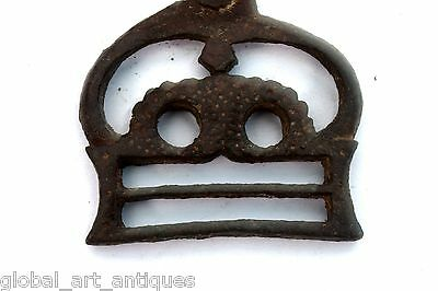 Old Rare Iron 1930's Unique Shape Handcrafted Belt Buckles, Rich Patina.G41-106 2