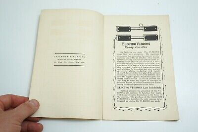 Antique 1890'S Thermo-Bain Co The Big Five Electro Vibration Quack Medicine Book 3