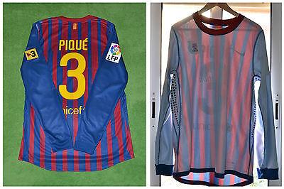 f391ae1c24 1 sur 6 Fc Barcelona Shirt Camiseta Pique Player Issue - Match Un Worn    2011-12 Messi