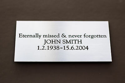 Engraved Memorial Plaque, Bench Plate, in Silver or Brass Effect High Quality 2