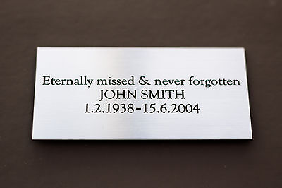 Engraved Sign, Memorial Plaque, Door Sign, Bench Plate in Silver or Brass Effect 2