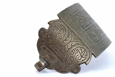Antique Ottoman Indo Islamic Hand Calligraphy Brass Armlet Collectible.G3-54 5